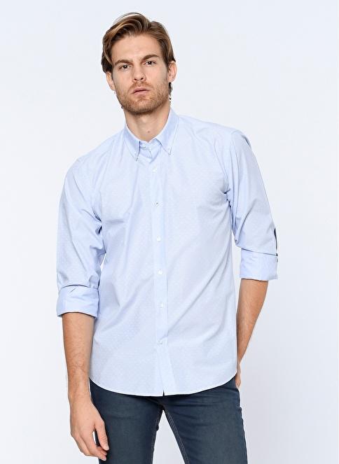 Dewberry Uzun Kollu Slim Fit Gömlek Mavi